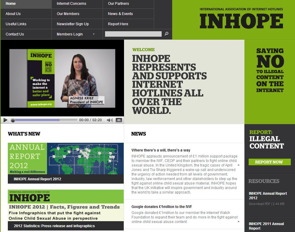 INHOPE 웹페이지