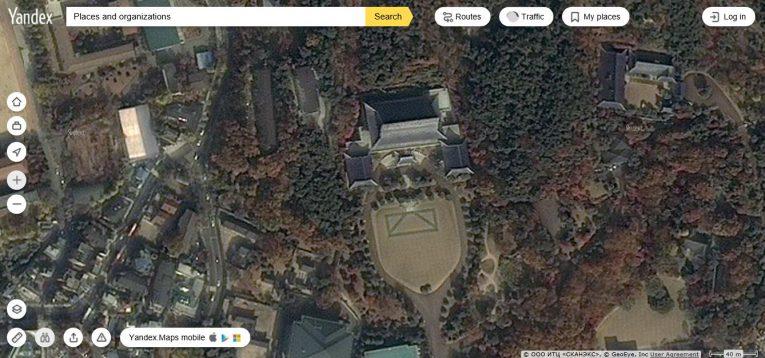 Yandex(얀덱스) 청와대 위성사진